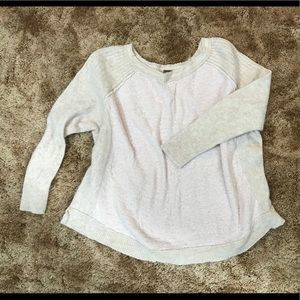 Soft pink knit sweater Free People L